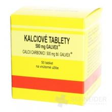 KALCIOVÉ TABLETY 500 mg GALVEX - CALCII CARBONICI