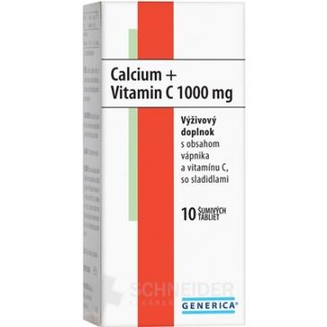 GENERICA CALCIUM + VITAMIN C 1000 mg
