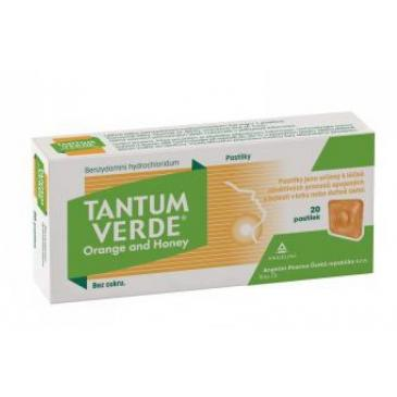 Tantum Verde Orange & Honey pastilky 20 x 3 mg